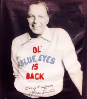 Frank Sinatra Ol Blue Eyes 2005 48x40 Unique Original Painting by Steve Kaufman