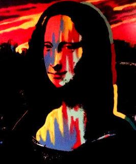 Mona Lisa Sunset 1995 Embellished - Set of 3 Trial Proofs Original Painting - Steve Kaufman