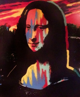 Mona  Lisa Sunset, Set of 3 TP 1995 Embellished Limited Edition Print - Steve Kaufman
