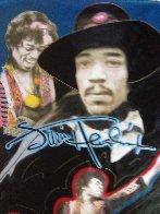 Jimi Hendrix 1995 Unique 64x44 Super Huge Original Painting by Steve Kaufman - 1