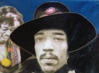 Jimi Hendrix 1995 Unique 64x44 Super Huge Original Painting by Steve Kaufman - 4
