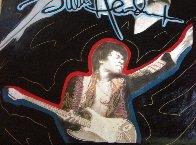 Jimi Hendrix 1995 Unique 64x44 Super Huge Original Painting by Steve Kaufman - 3