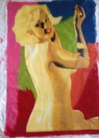 Marilyn Nude AP 1995 60x40 Super Huge  Limited Edition Print by Steve Kaufman - 2