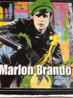 Marlon Brando 1995 Unique 60x52 Huge Original Painting - Steve Kaufman
