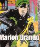Marlon Brando 1995 Unique 60x52 Super Huge Original Painting by Steve Kaufman - 0
