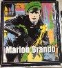 Marlon Brando 1995 Unique 60x52 Super Huge Original Painting by Steve Kaufman - 4
