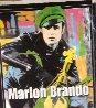 Marlon Brando 1995 Unique 60x52 Super Huge Original Painting by Steve Kaufman - 5