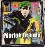 Marlon Brando 1995 Unique 60x52 Super Huge Original Painting by Steve Kaufman - 6