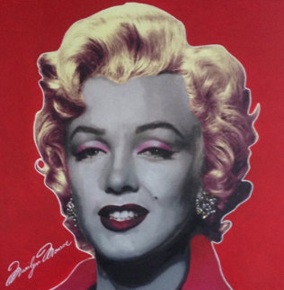 Marilyn Pop Ruby Red Signature 2002 Unique 48x48 Super Huge Original Painting - Steve Kaufman