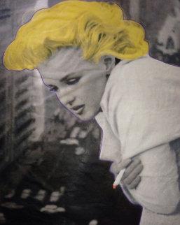 Marilyn Monroe 5th Ave New York Unique 2004 58x36 Huge Original Painting - Steve Kaufman