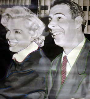 Marilyn DiMaggio Wedding Unique 2004 48x42 Original Painting - Steve Kaufman
