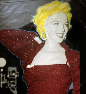 Marilyn Red Carpet 2004 48x36 Unique Original Painting by Steve Kaufman