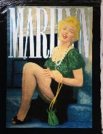 Marilyn Laughing Unique 2000 48x36 Super Huge Original Painting by Steve Kaufman - 1