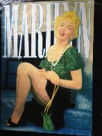 Marilyn Laughing Unique 2000 48x36 Super Huge Original Painting by Steve Kaufman - 2