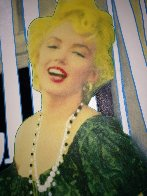 Marilyn Laughing Unique 2000 48x36 Super Huge Original Painting by Steve Kaufman - 3