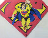 Superman Shield Reverse Colors Canvas Painting  1995 36x50 Limited Edition Print by Steve Kaufman - 0