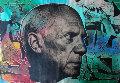 Picasso 2000 36x52 Unique Original Painting - Steve Kaufman