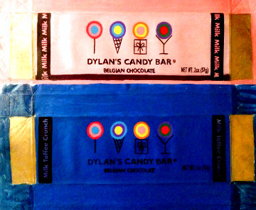 Dylan Candy Bar, Set of 2, Pink And Blue Unique 2007 20x7 Original Painting - Steve Kaufman
