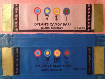 Dylan Candy Bar, Set of 2, Pink And Blue Unique 2007 Original Painting by Steve Kaufman