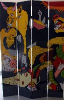 Icons And Picasso Guernica Mural 2000 83x60 Huge Original Painting by Steve Kaufman - 1