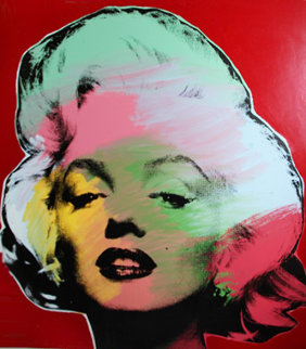 Marilyn Series (Red) 1995 Embellished Limited Edition Print - Steve Kaufman