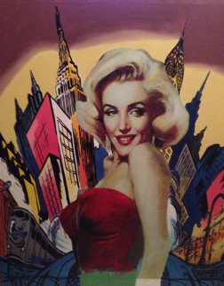 Marilyn Living in the Comic World 2000 Unique 49x42 Original Painting - Steve Kaufman