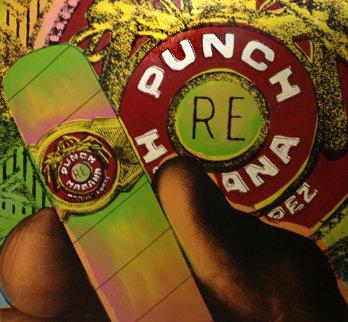 Punch 1995 Embellished Limited Edition Print - Steve Kaufman