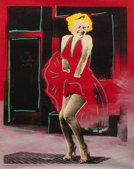 Marilyn Monroe, Some Like It Hot Unique 28x24 Limited Edition Print by Steve Kaufman