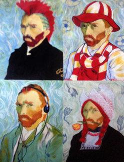4 Sides of Van Gogh Unique 46x35 Original Painting by Steve Kaufman