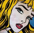 Homage to Lichtenstein Blonde Girl 48x48 Unique Original Painting - Steve Kaufman