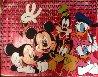 Disney Gang Red Jackson Pollock Unique 2000 37x47  Original Painting by Steve Kaufman - 1