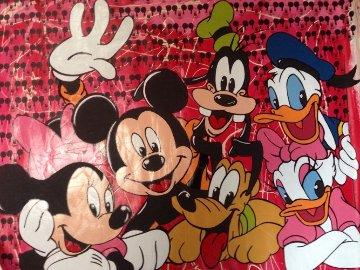 Disney Gang Red Jackson Pollock Unique 2000 37x47  Original Painting by Steve Kaufman