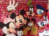 Disney Gang Red Jackson Pollock Unique 2000 37x47  Original Painting by Steve Kaufman - 0