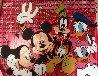 Disney Gang Red Jackson Pollock Unique 2000 37x47  Original Painting by Steve Kaufman - 2