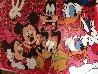 Disney Gang Red Jackson Pollock Unique 2000 37x47  Original Painting by Steve Kaufman - 3