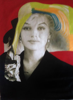Marilyn Sophisticated X-Large 1996 Unique 60x40 Huge Original Painting - Steve Kaufman