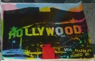 Hollywood Sign Unique 22x32 Original Painting by Steve Kaufman - 1