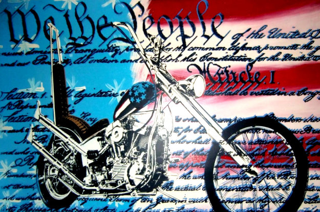 Freedom to Ride Embellished Limited Edition Print by Steve Kaufman