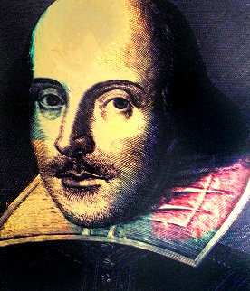 Shakespeare 1996 Embellished Limited Edition Print - Steve Kaufman