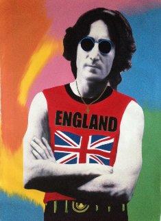 John Lennon England Unique 2001 48x30 Original Painting - Steve Kaufman