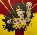 Wonder Woman Large 2000 44x40 Original Painting - Steve Kaufman