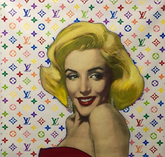 Marilyn Louis Vuitton Unique 1995  40x40 Original Painting by Steve Kaufman
