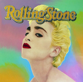 Madonna Rolling Stone Cover  Unique 1995 40x40 Original Painting by Steve Kaufman