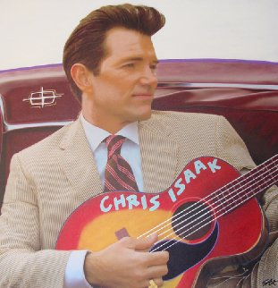 Chris Isaak Unique 2007 24x24 Original Painting by Steve Kaufman