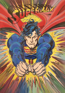 Superman 1995 47x35 Embellished Limited Edition Print by Steve Kaufman
