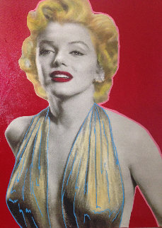Marilyn Unique 20x17 Original Painting by Steve Kaufman