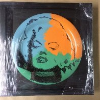 Marilyn Monroe Ceramic Plate Unique Original Painting by Steve Kaufman - 1