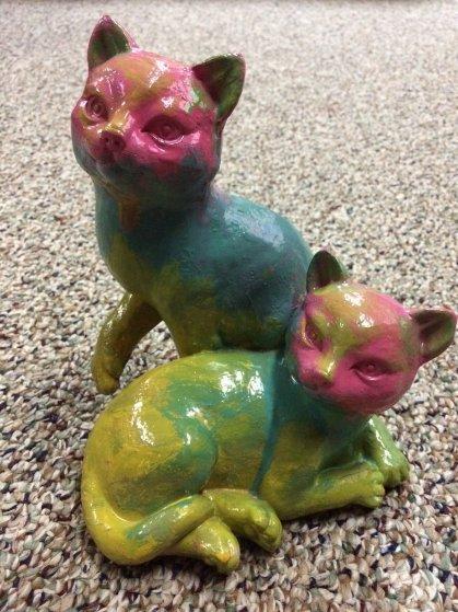 Cats Acrylic Sculpture  Sculpture by Steve Kaufman