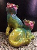 Cats Acrylic Sculpture Unique Sculpture by Steve Kaufman - 1