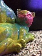 Cats Acrylic Sculpture Unique Sculpture by Steve Kaufman - 2
